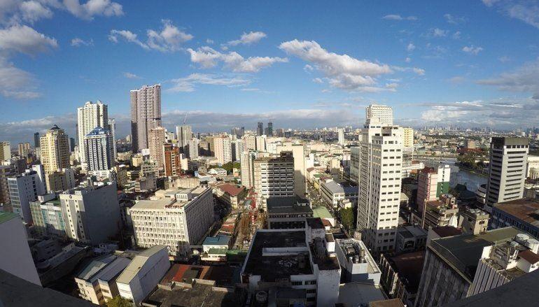 Скачать онлайн бесплатно лучшее фото панорама города Манила в хорошем качестве