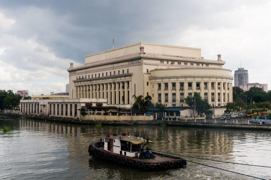 Смотреть красивое фото вид на город Манила со стороны реки