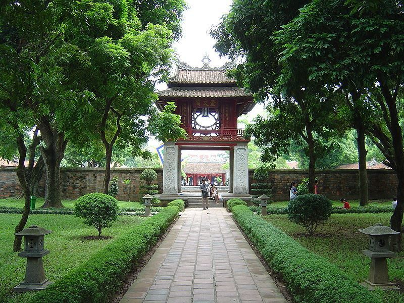Главный вход Храм литературы город Ханой