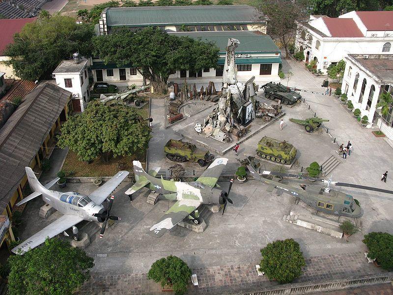 Вид сверху музей армии город Ханой Вьетнам