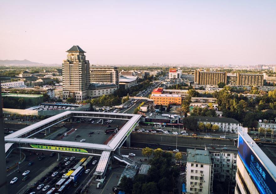 Скачать онлайн бесплатно лучшее фото панорама города Пекин Китай