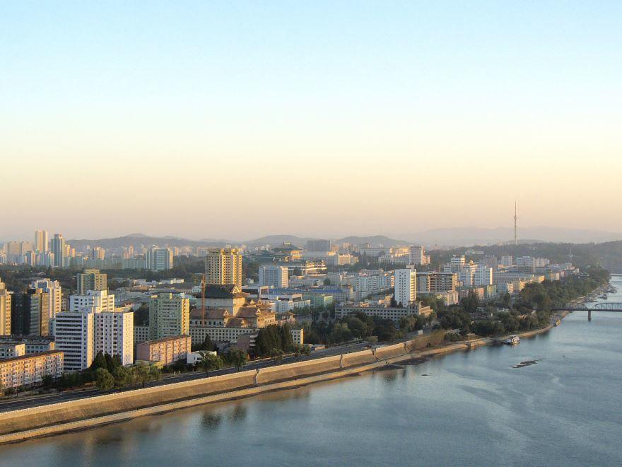 Красивый вид города Пхеньян