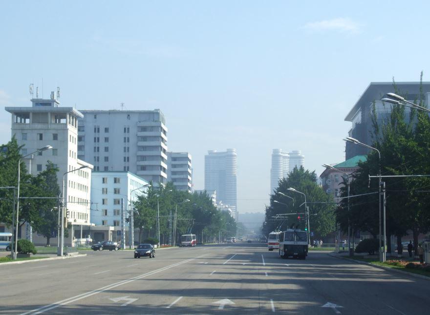 Улица города Пхеньян