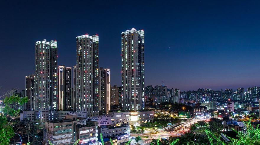 Вид на город Сеул 2018 Южная Корея