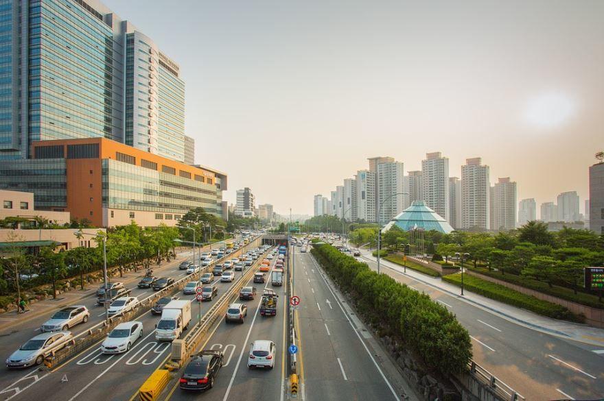 Улица город Сеул 2018