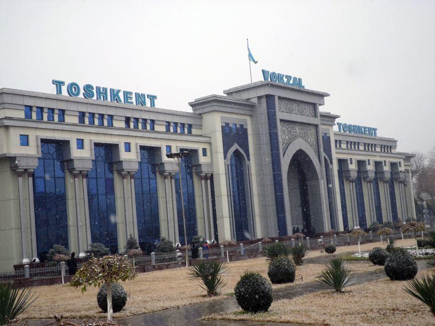 Железнодорожный вокзал город Ташкент 2018
