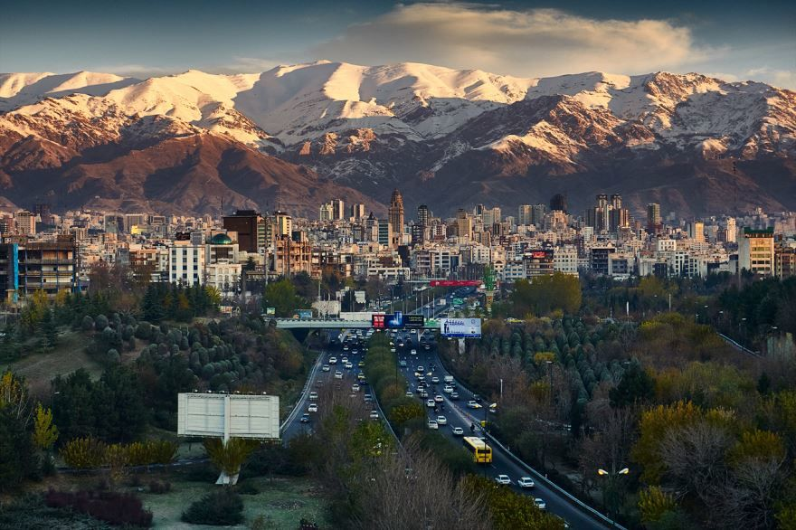 Панорама города Тегеран 2019