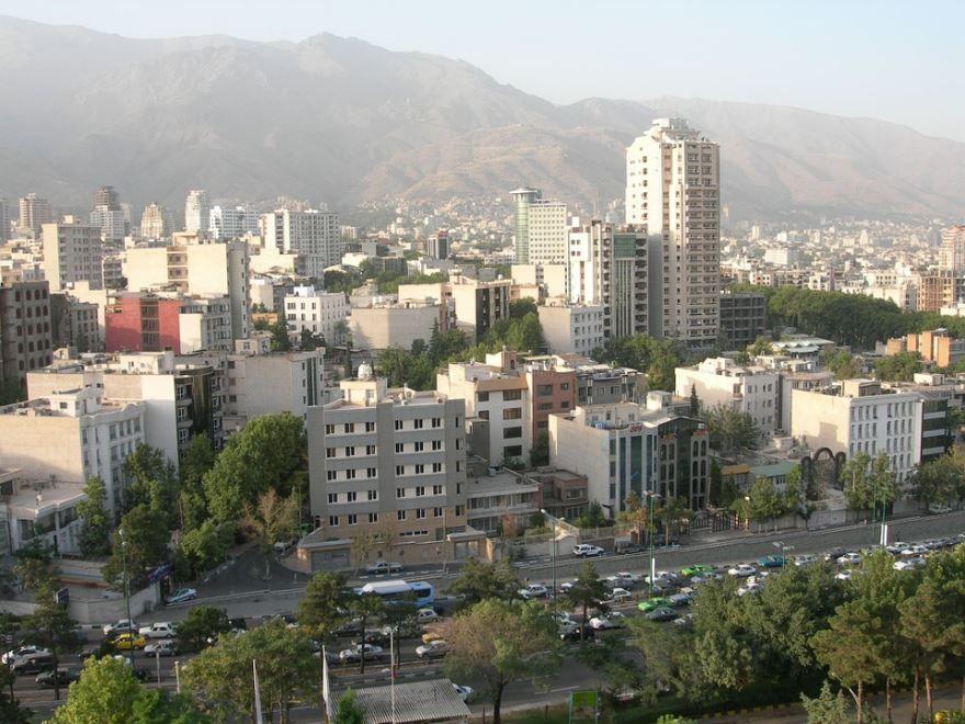 Смотреть красивый вид на город Тегеран в хорошем качестве