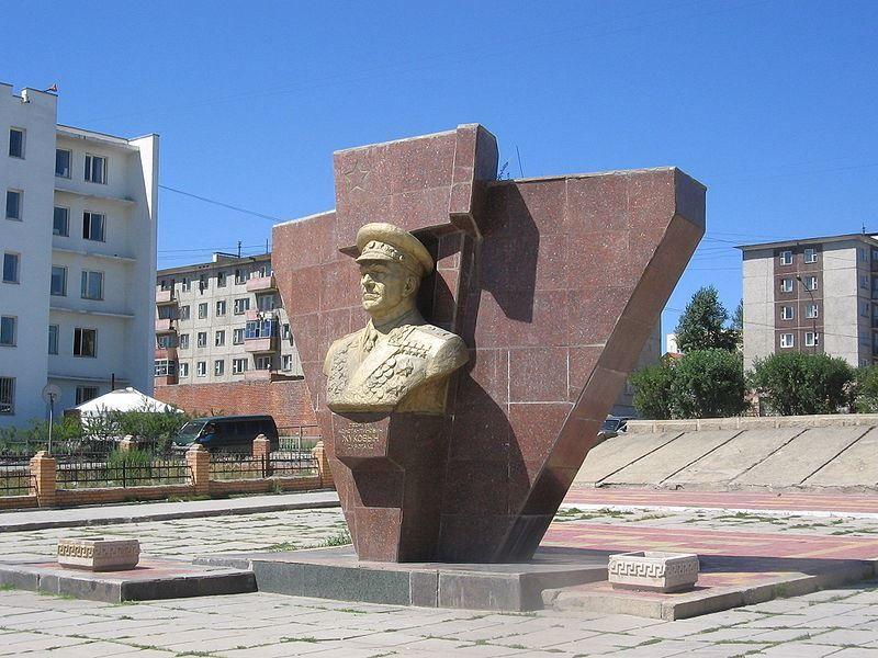 Памятник Георгию Жукову город Улан Батор