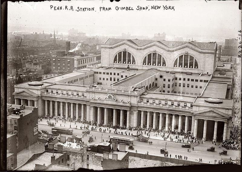 Смотреть лучшее старинное фото Пенсильванский вокзал 1906 года
