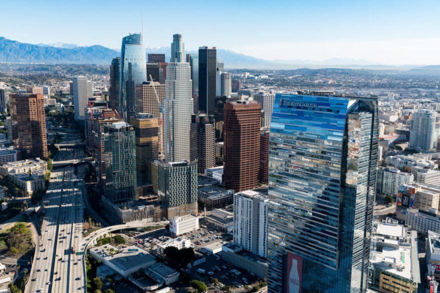 Смотреть красивое фото город Лос Анджелес сейчас