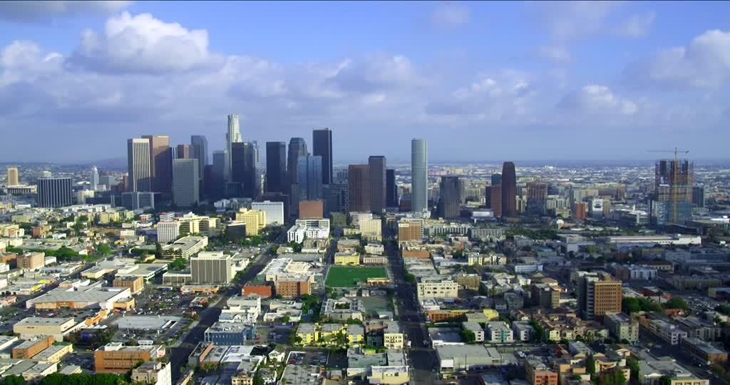 Вид сверху на город Лос Анджелес 2019