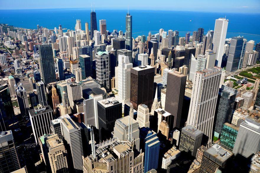 Красивое фото город Чикаго скачать бесплатно