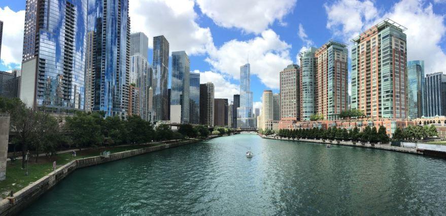 Красивое фото Чикаго город штат Иллинойс США
