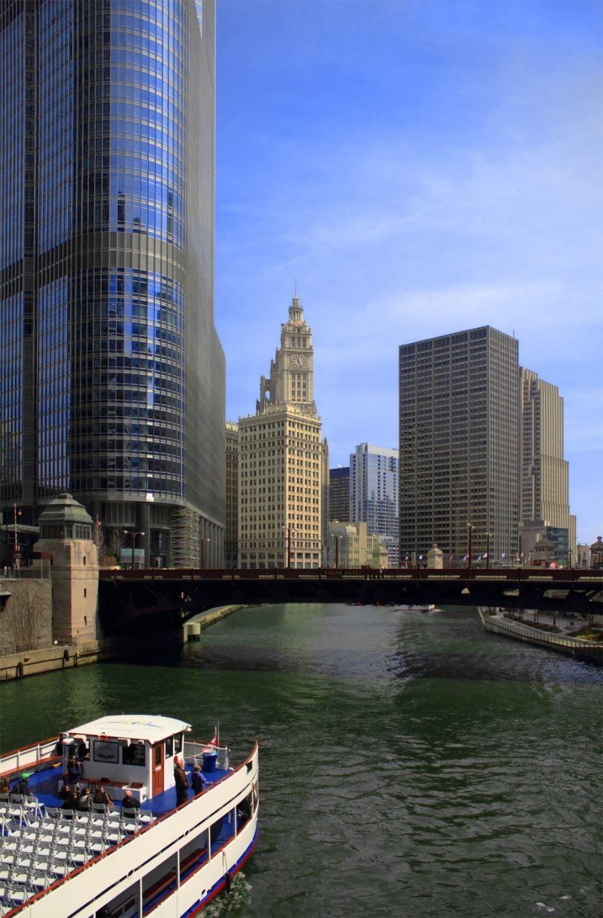 Смотреть красивое фото город Чикаго штат Иллинойс США