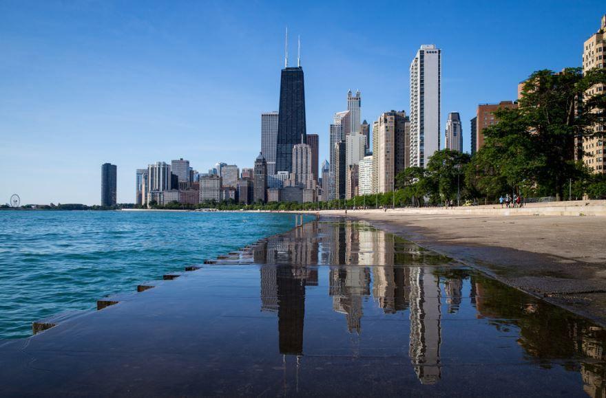 Набережная город Чикаго