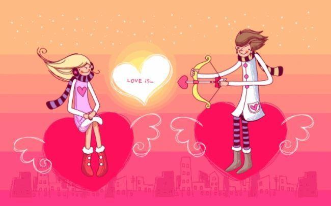C Днем Святого Валентина!  Влюбленные