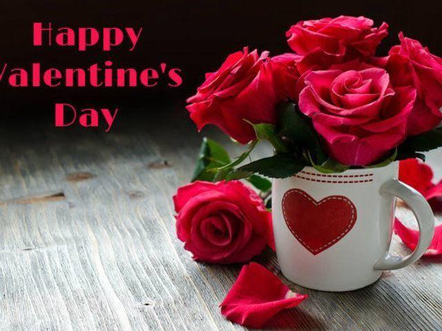 C Днем Святого Валентина!  Цветы