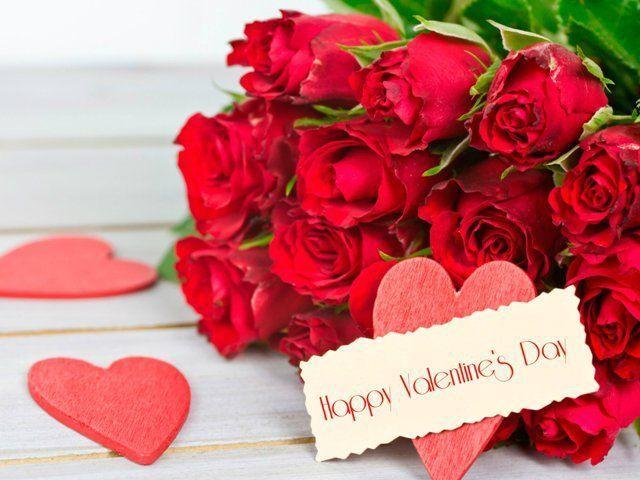 C Днем Святого Валентина!  Букет цветов