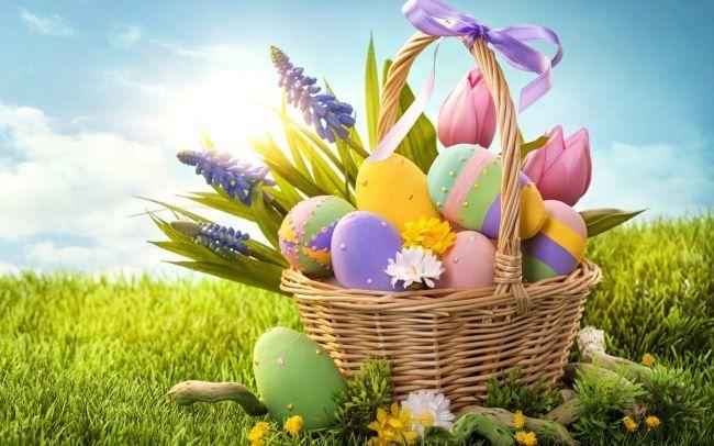 С праздником пасхой! Крашенные яйца