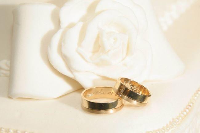 Красивая свадебная фотография, кольца