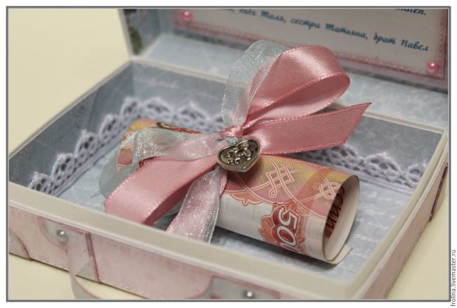 Свадебные открытки ручной работы с подарком