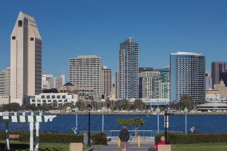 Смотреть красивое фото города Сан Диего штат Калифорния бесплатно
