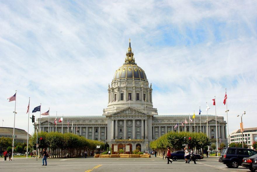 Площадь  города Сан Франциско 2019 штат Калифорния