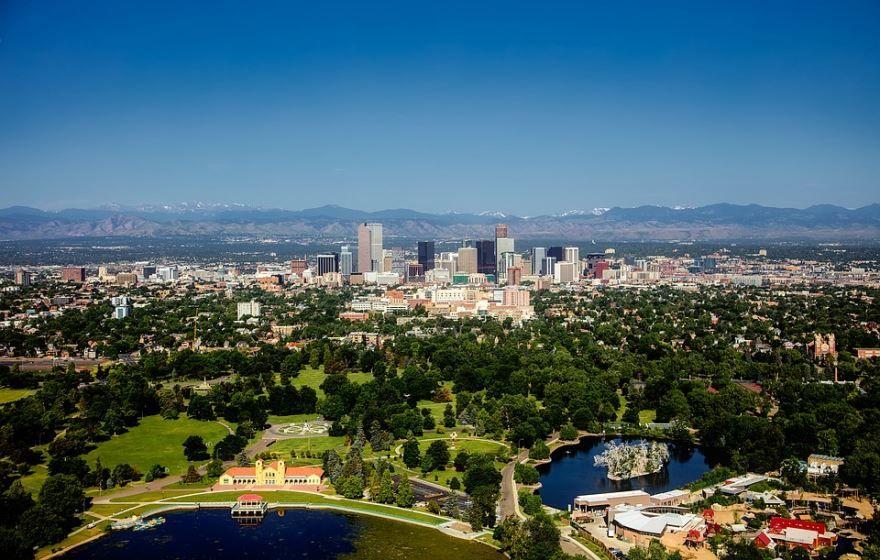 Смотреть красивое фото города Денвер штат Колорадо США