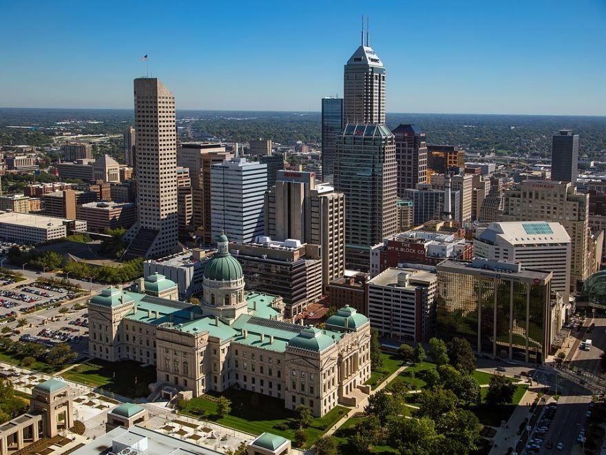 Смотреть красивое фото города Индианаполис штат Индиана США