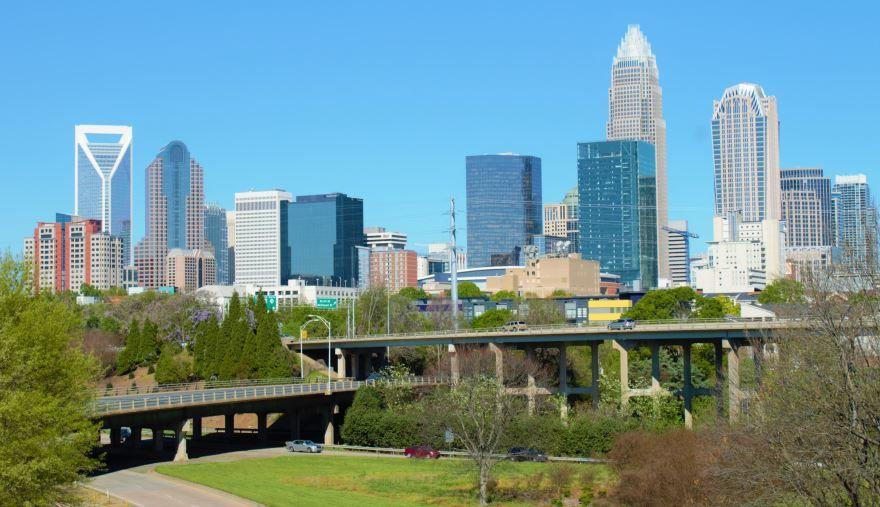Смотреть красивое фото города Шарлотт Северная Каролина