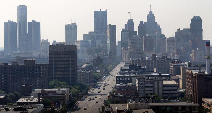 Смотреть красивое фото города Детройт штат Мичиган США