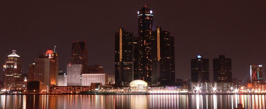 Скачать онлайн бесплатно лучшее фото города Детройт 2019 в хорошем качестве