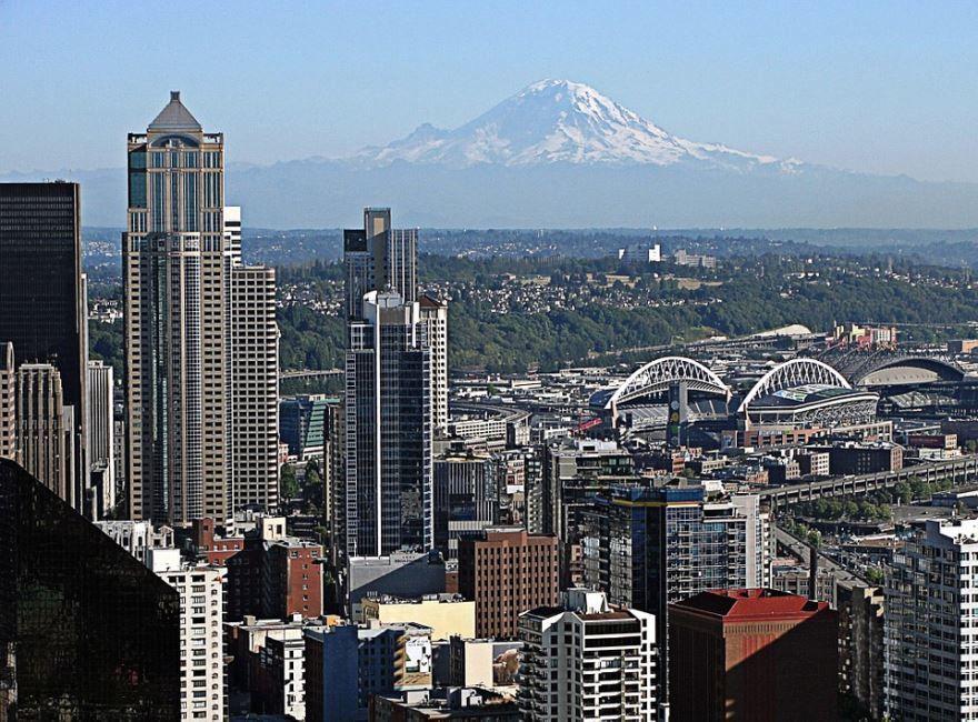 Смотреть красивое фото города Сиэтл штат Вашингтон США