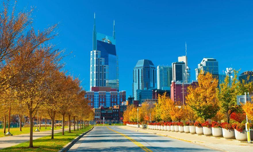 Смотреть красивое фото города Нашвилл штат Теннесси США