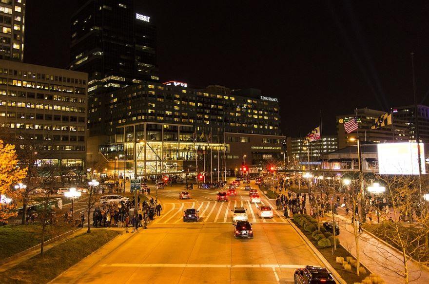 Смотреть красивое фото города Балтимор штат Мэриленд США