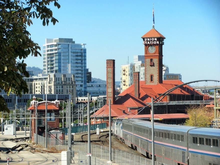 Железнодорожный вокзал город Портленд 2019