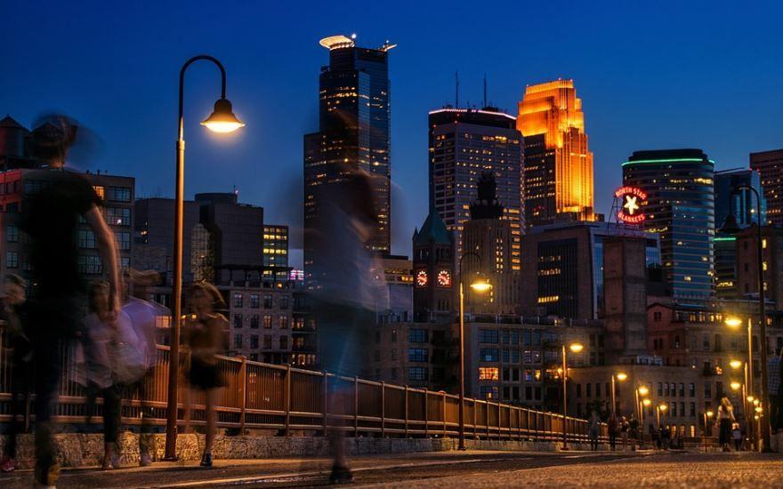 Смотреть красивое фото города Миннеаполис