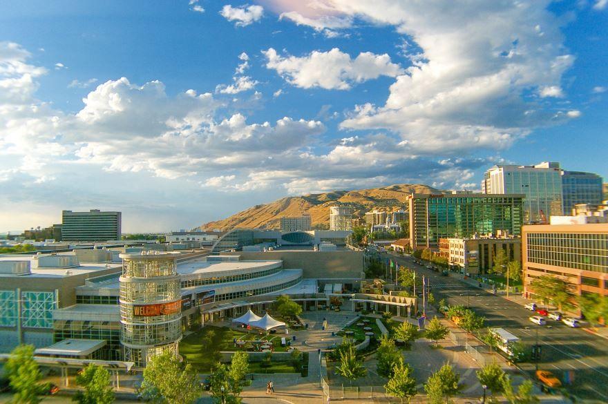 Смотреть красивое фото города Солт Лейк Сити штат Юта США