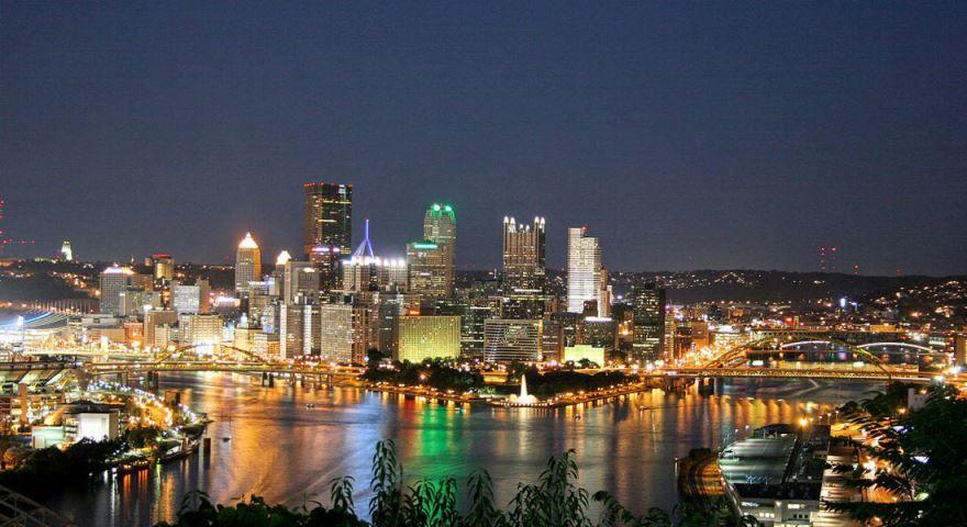 Смотреть красивое фото города Питтсбург штат Пенсильвания США