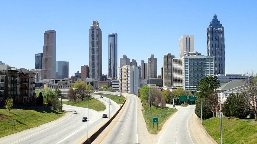 Смотреть красивое фото города Атланта штат Джорджия США
