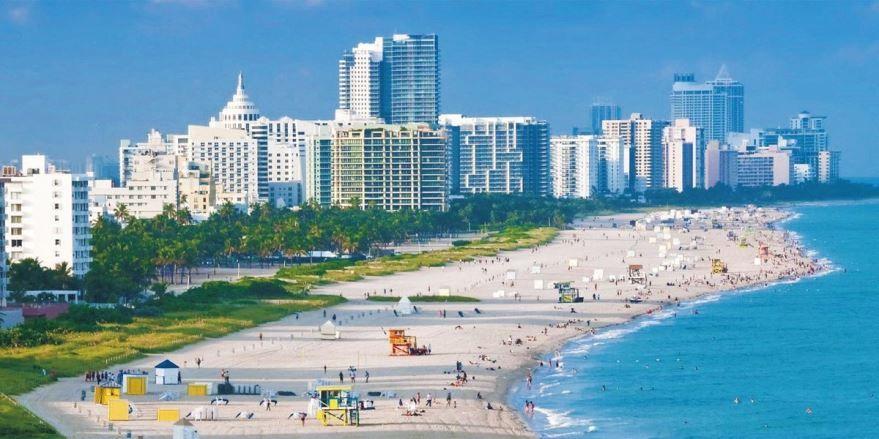 Смотреть красивое фото города Майами Бич штат Флорида США