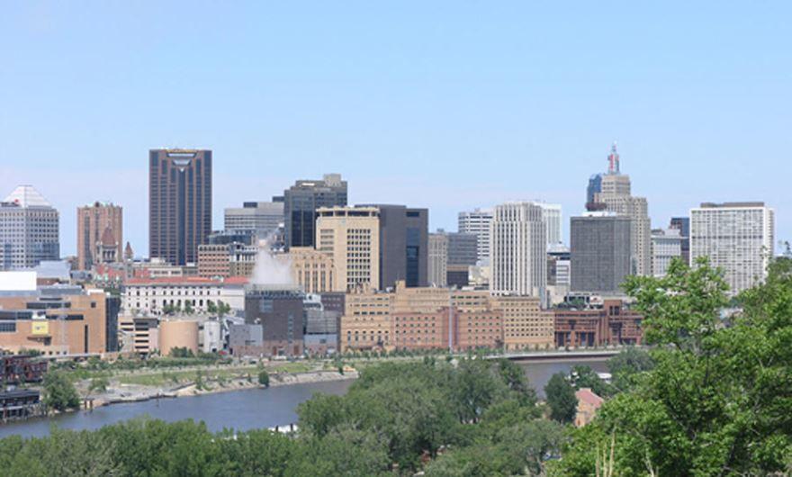 Смотреть красивое фото города Сент Пол столица штата Миннесота США