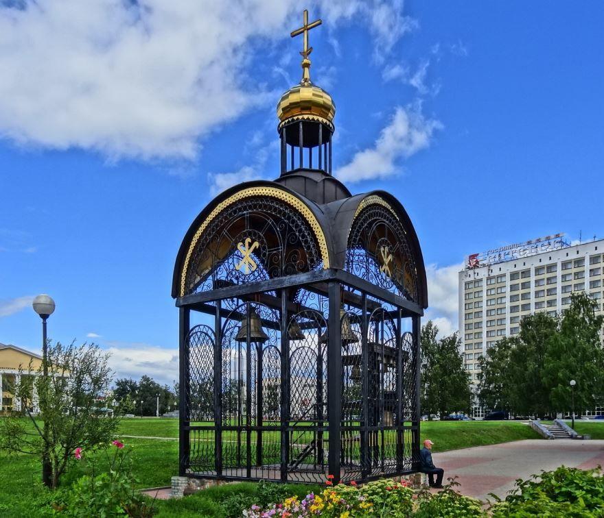 Звонница около Благовещенской церкви город Витебск Белоруссия