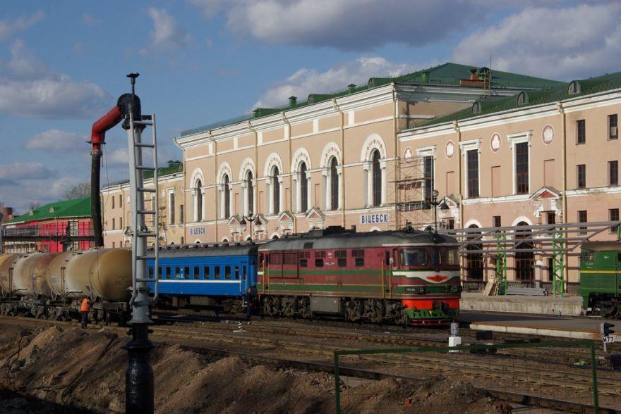Железнодорожный вокзал город Витебск 2019