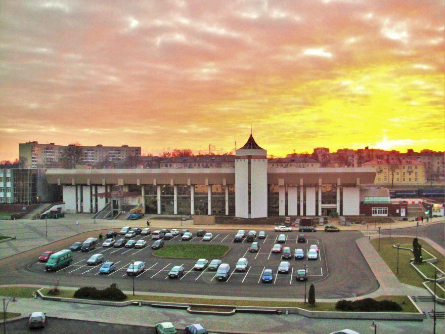 Железнодорожный вокзал город Гродно 2019 Белоруссия