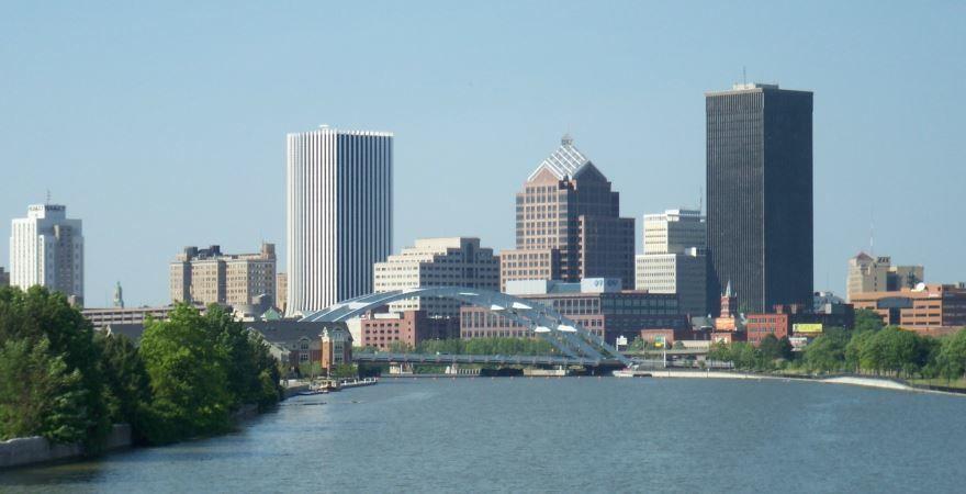 Смотреть красивое фото города Рочестер штат Нью Йорк США