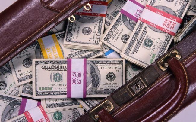 Куча бабла, доллары