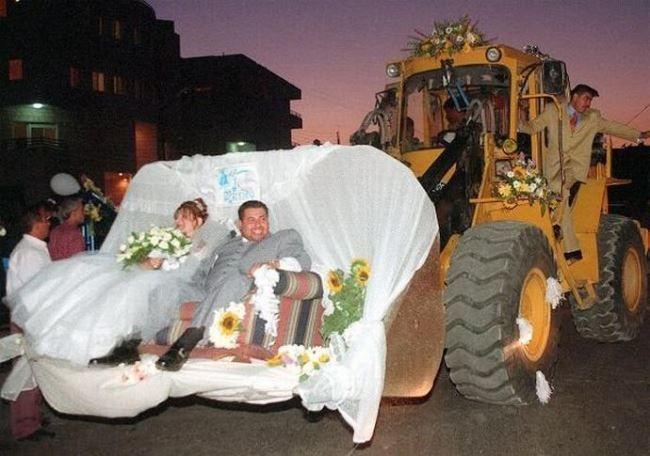 Свадьба на экскаваторе