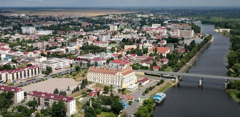 Смотреть красивое фото вид сверху город Пинск 2019